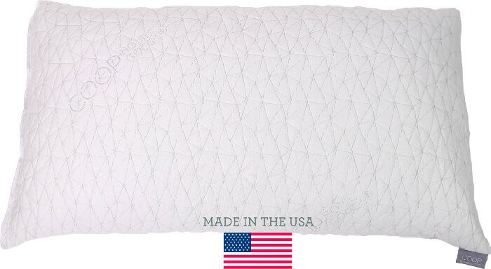 This is the best pillow for side sleepers and stomach sleepers, Shredded Memory Foam Pillow With Viscose Rayon Cover Derived From Bamboo