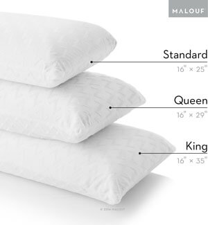 Review Z by MALOUF 100% Natural Talalay Latex Zoned Pillow