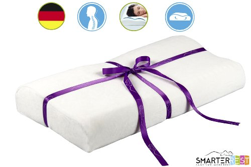 Memory Foam Pillow Contour For Back Pain, Neck Pain And Travel