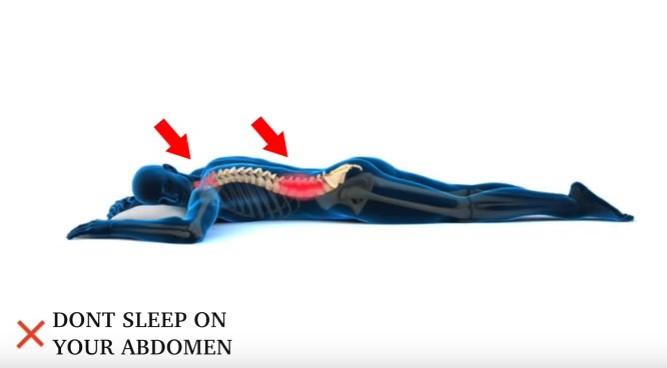 Don't sleep on your stomach - abdomen