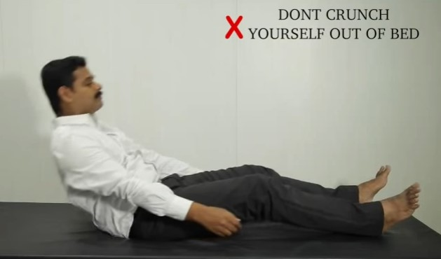 Don't crunch yourself out of bed