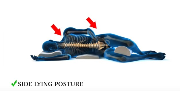Side lying posture is a best choice for your body